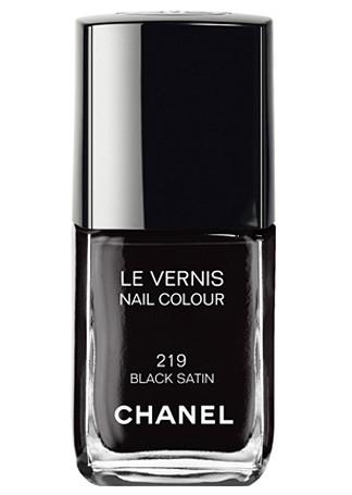 Chanel Le Vernis 219 Black Satin 219 Black Satin
