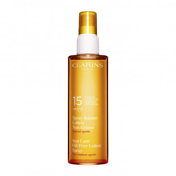 Clarins Sun Care Sports Oil-Free Lotion Spray Moderate Protection UVB UVA 15 150ML Güneş Bakım